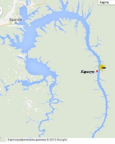 Карахун на карте